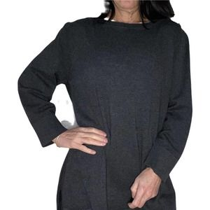 Cable & Gauge XL/TG Dark Grey Long Sleeve Sweater